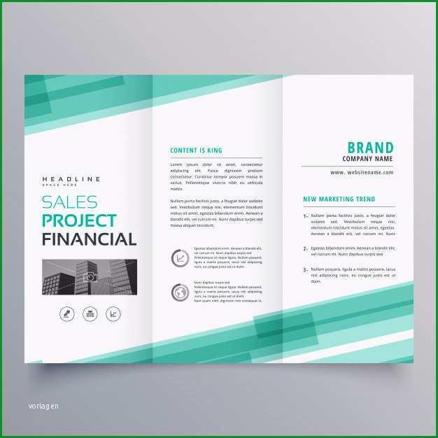 abstrakte grune trifold vorlage broschure design