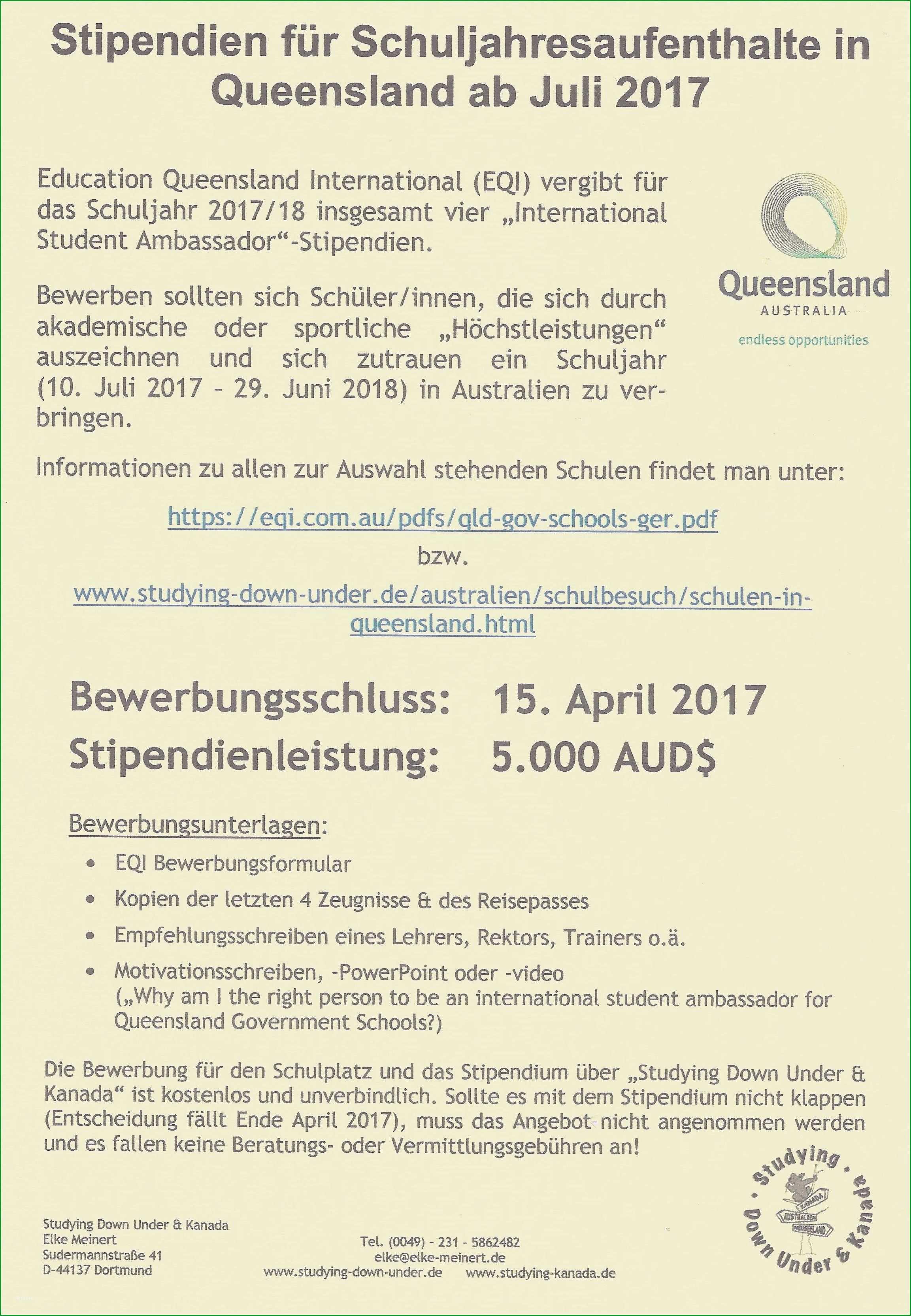 bewerbung stipendium muster