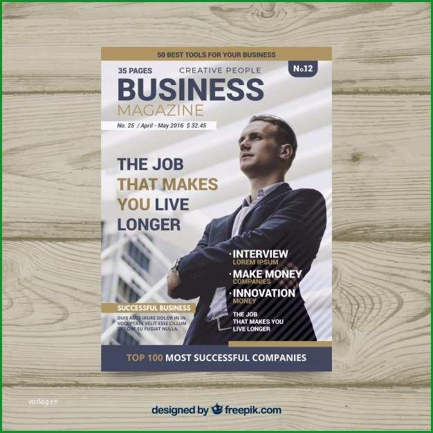 business magazin cover vorlage mit foto