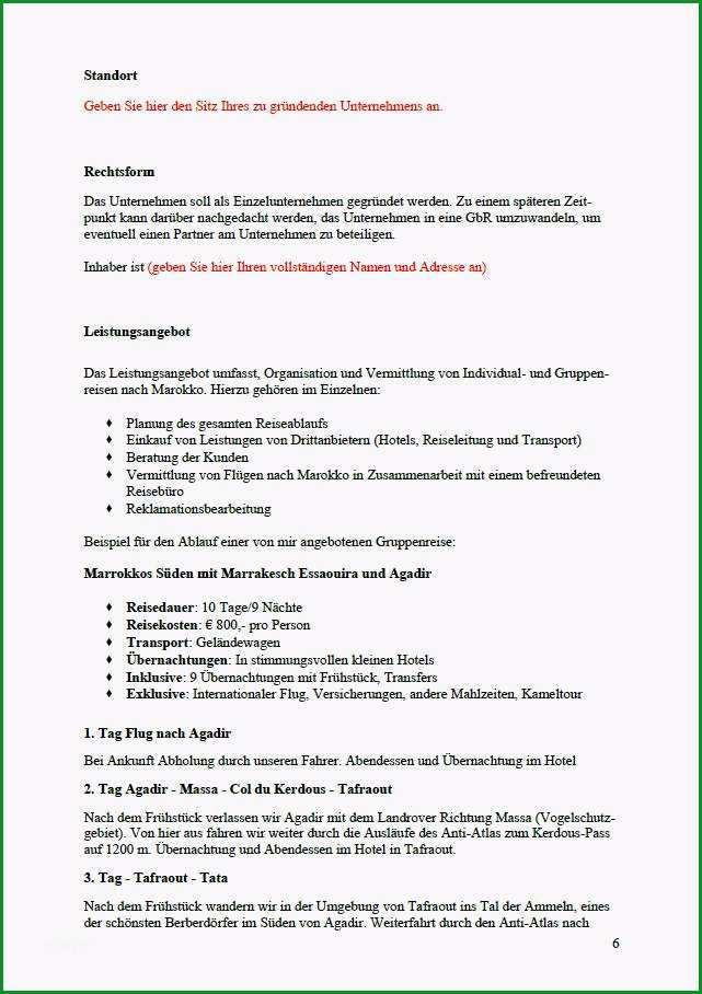 businessplan reiseveranstalter