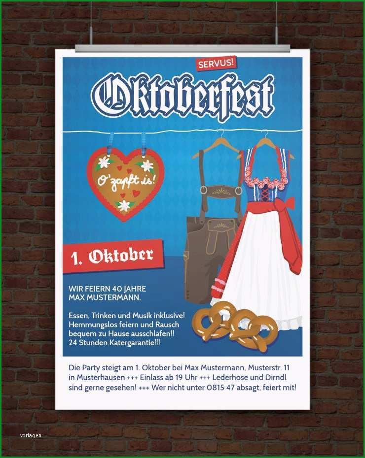 Atemberaubend Drucke Selbst Vorlage Einladung Oktoberfest