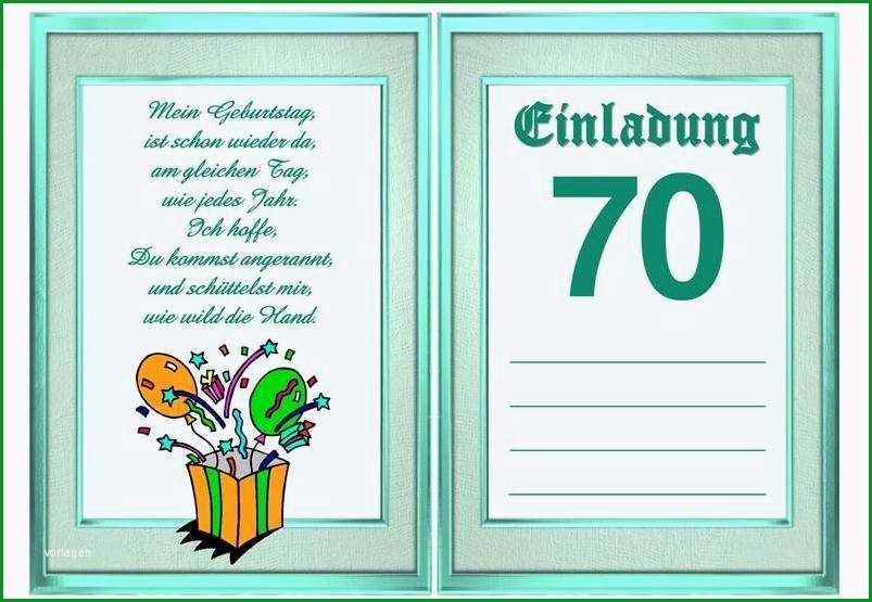 aufregend einladung 70 geburtstag vorlage kostenlos