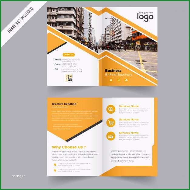 gelbe bi falten broschure vektor design vorlage