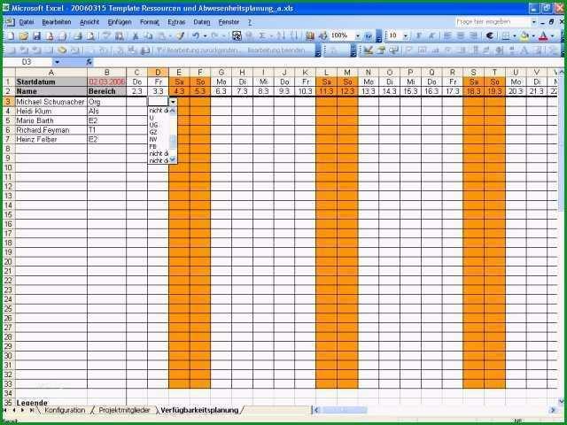 Atemberaubend Kapazitätsplanung Mitarbeiter Excel Vorlage Genial Kleine