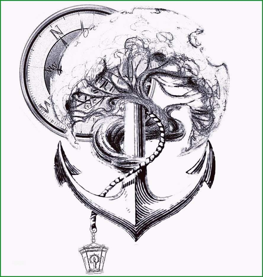 kompass anker tattoo vorlage genial my concept tattoo idea what you guys think tattoo tree anchor