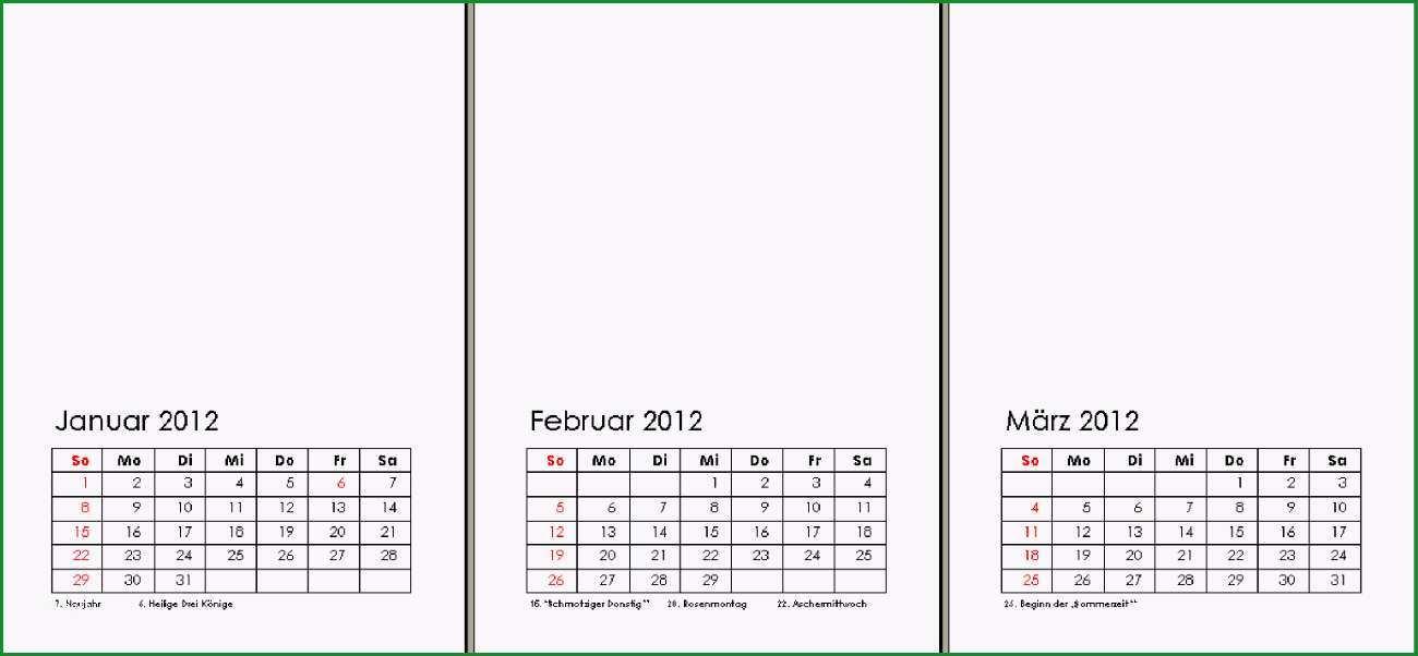 kostenlose vorlage kalender 2012
