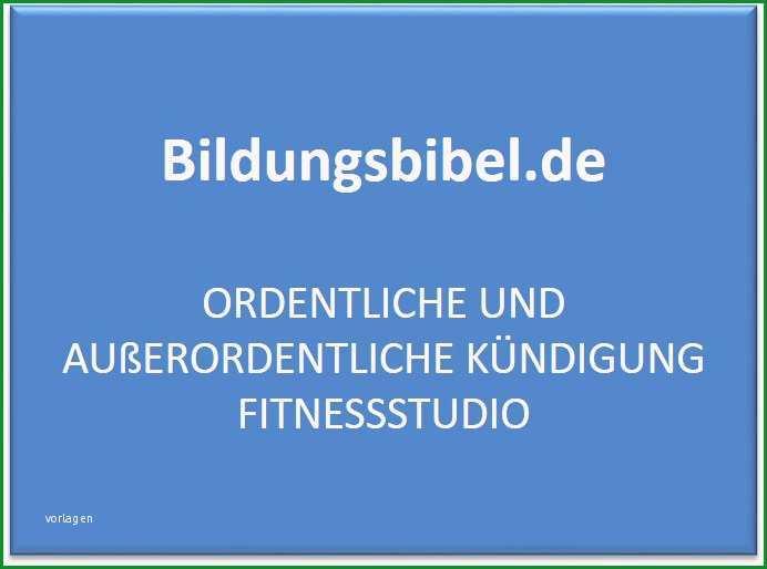 kuendigung fitnessstudio vorlage muster