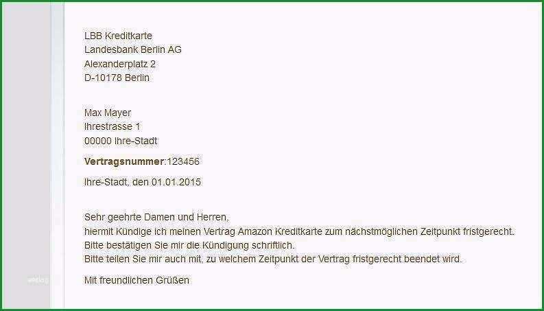 Atemberaubend Kündigungsschreiben Postbank Vorlage Schön Kreditkarte