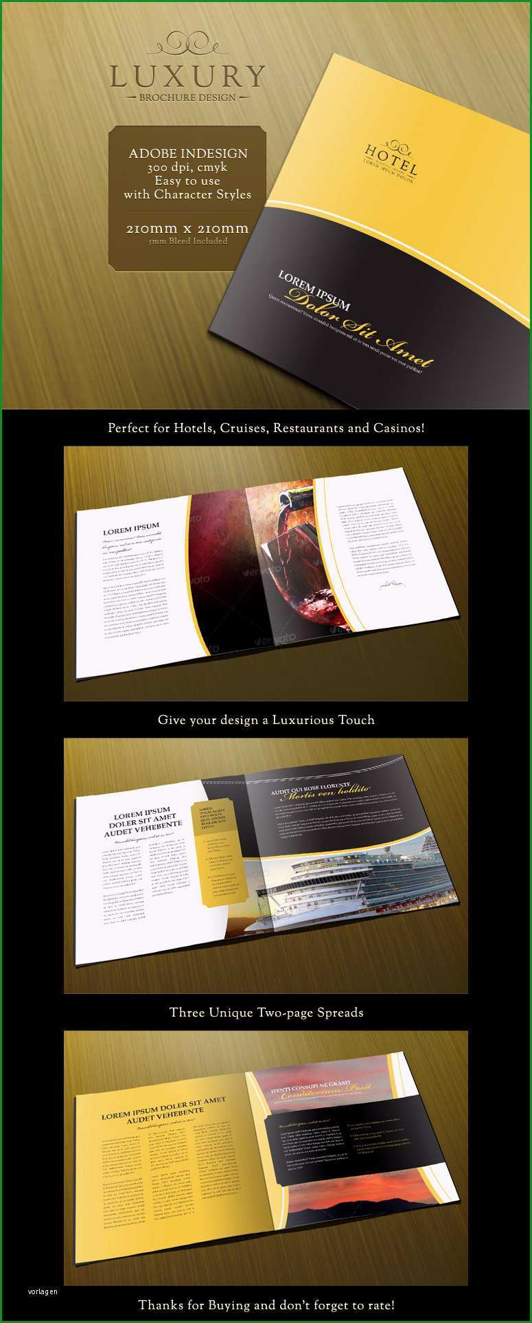 luxury 8 page brochure design in indesign