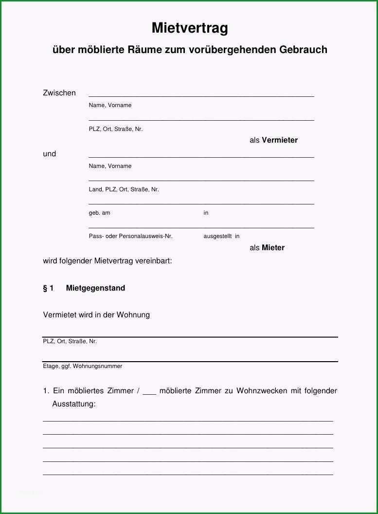 mietvertrag kundigung vorlage mieter