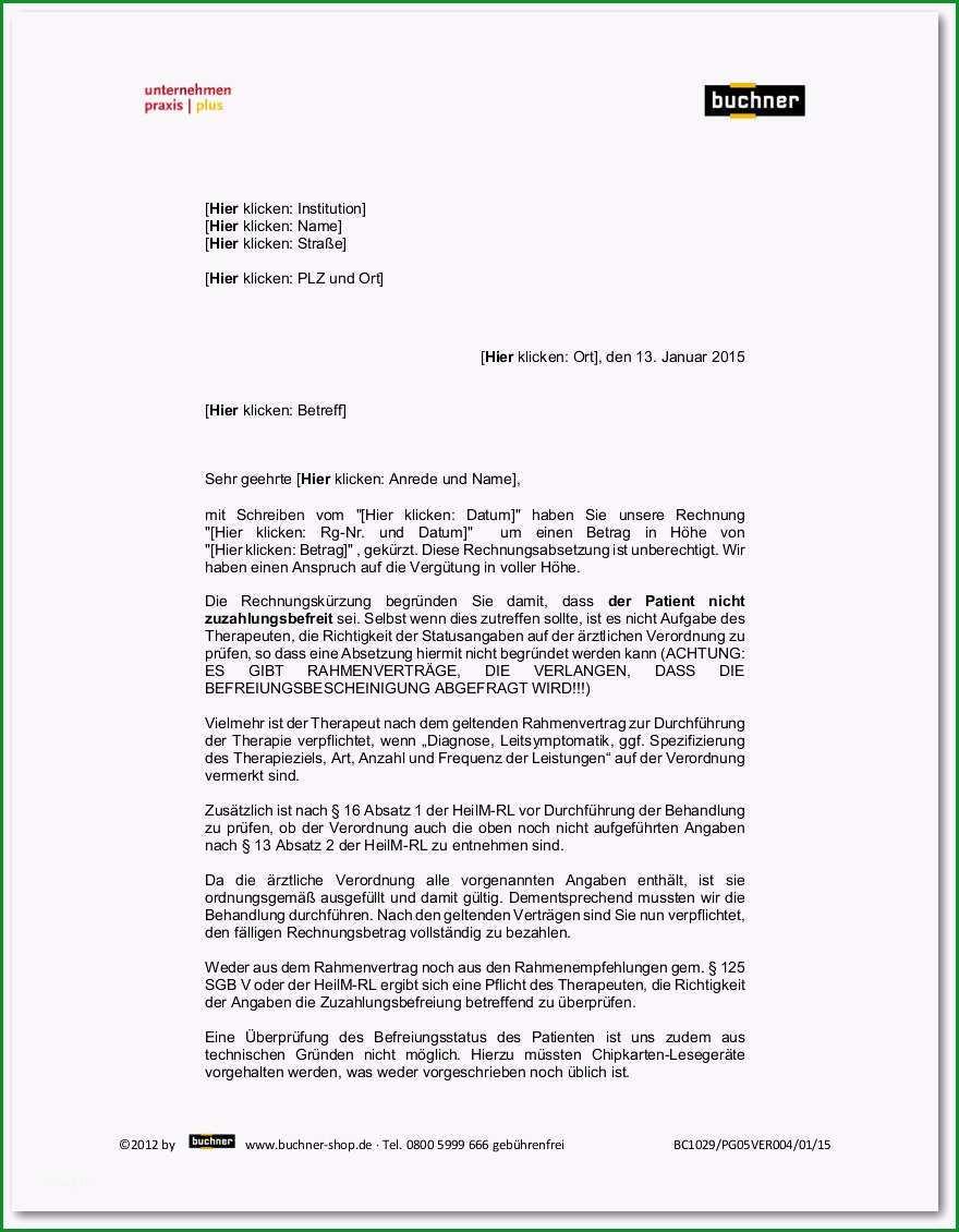musterschreiben gkv wegen fehlender zuzahlungsbefreiung bc1029 pg05