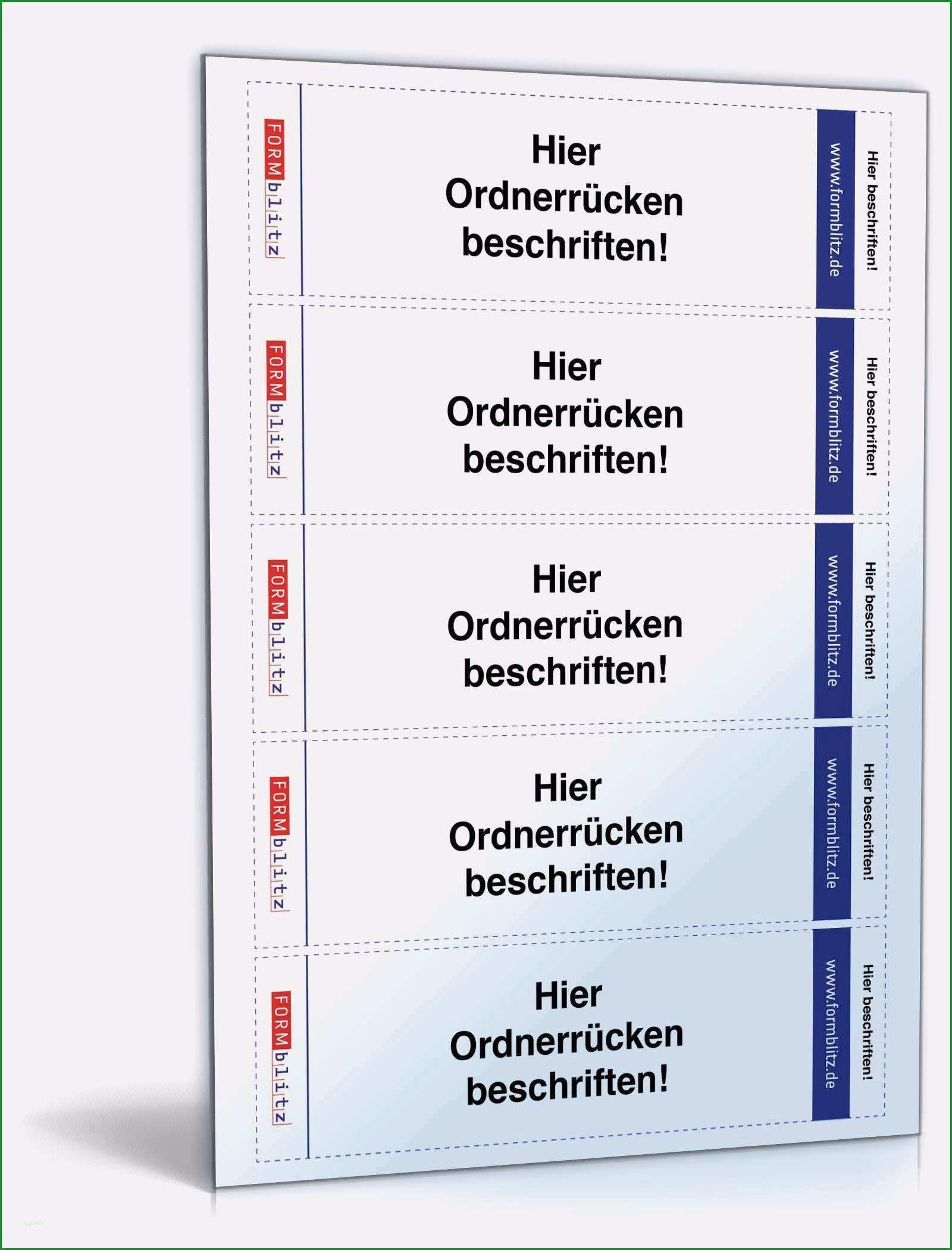 ordnerrucken vorlage word 2010 luxus ordnerrucken fur leitz ordner hochformat 5 3 x 18 8