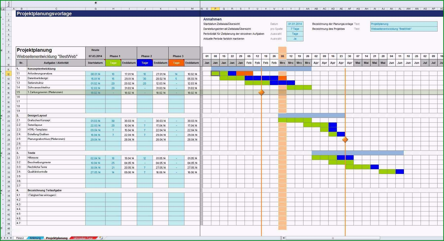 projekt planen vorlage best of excel projektplanungstool pro zum