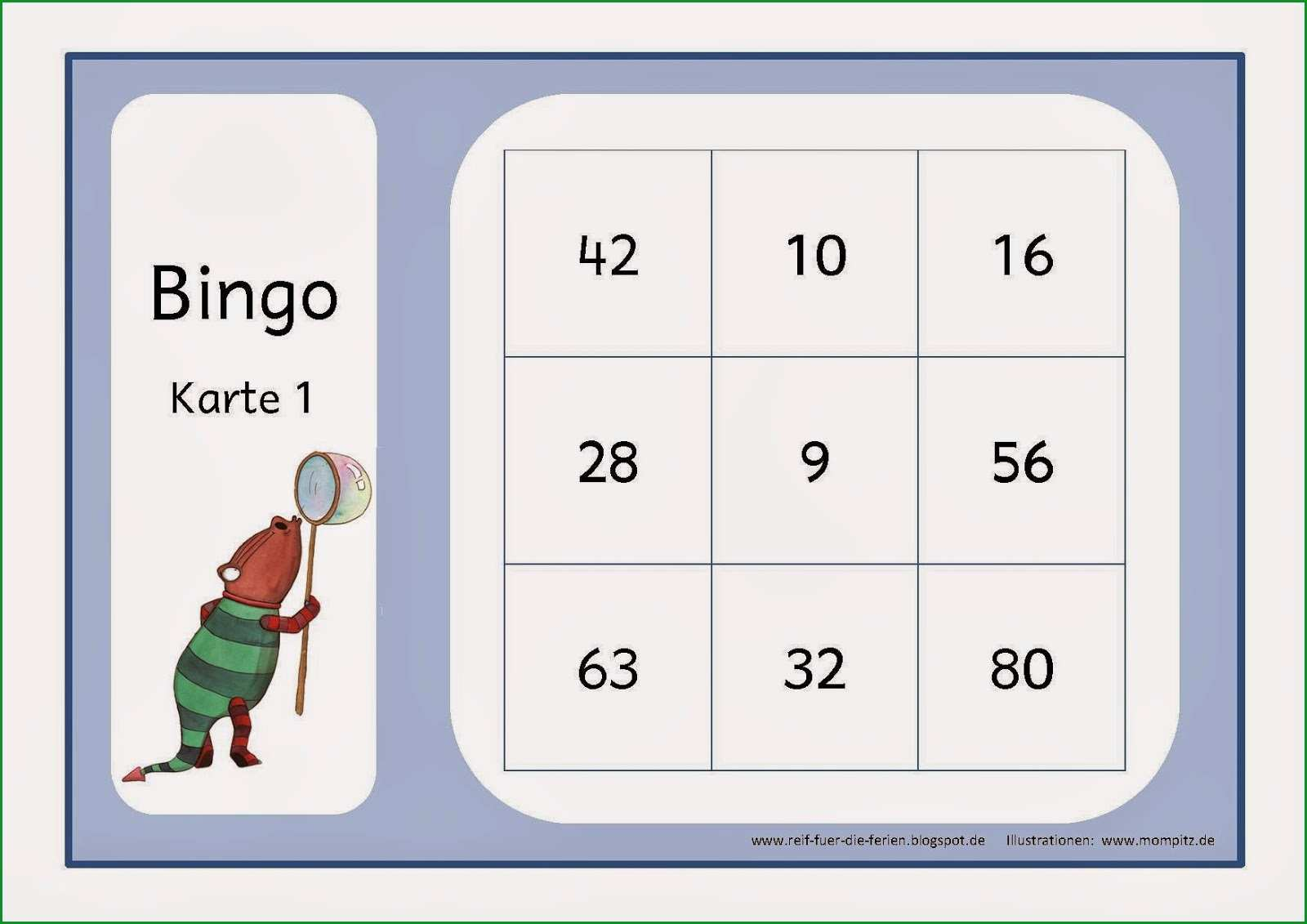 mompitz bingo zum 1x1