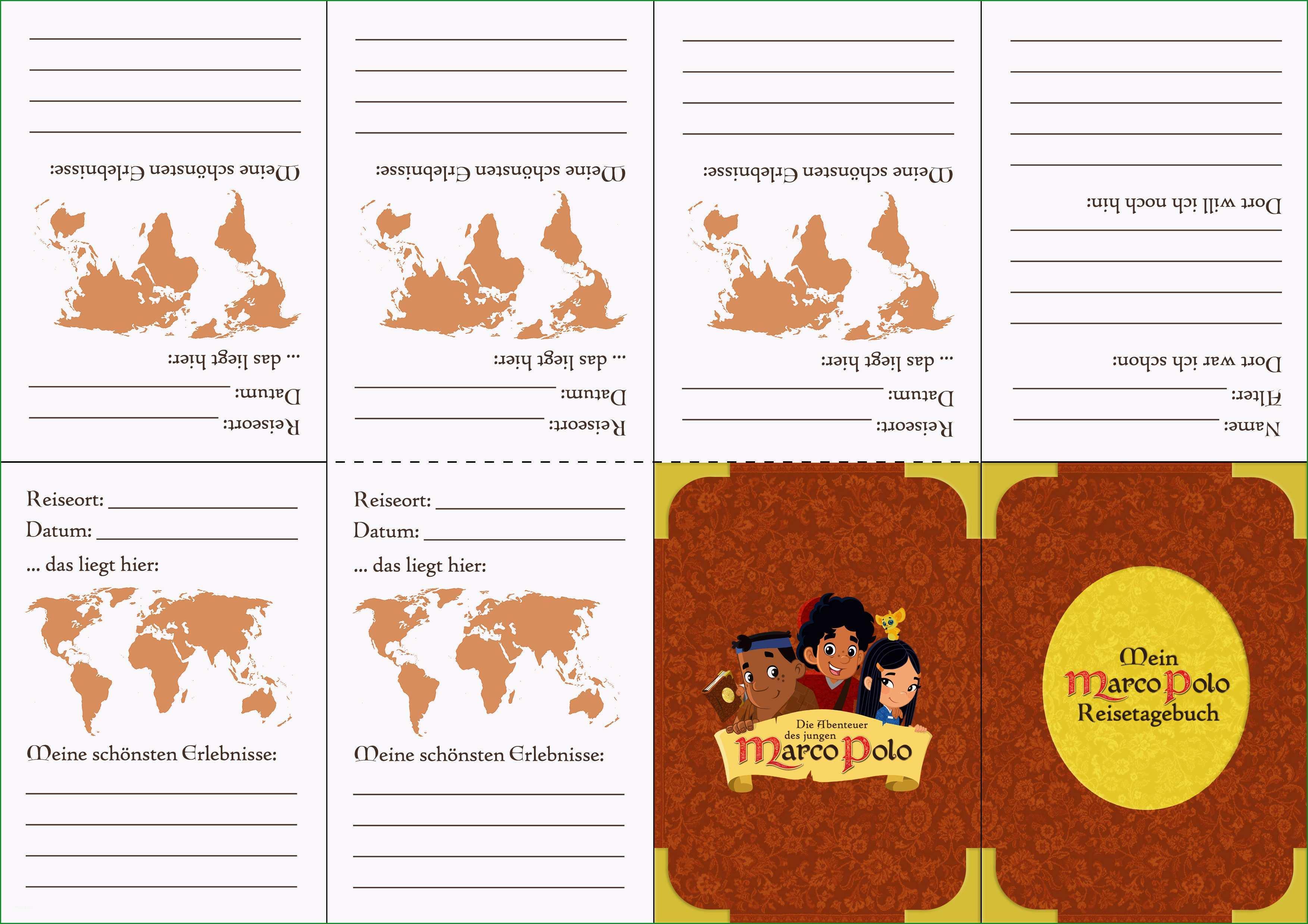 Atemberaubend Reisetagebuch Vorlage Die Abenteuer Des Jungen Marco Polo