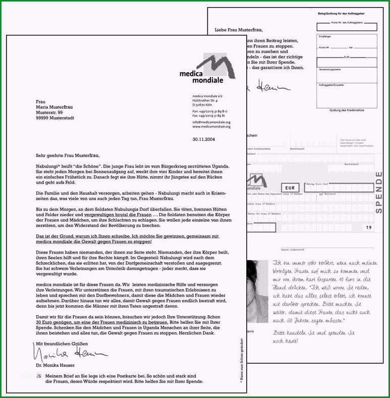 spendenbrief schreiben vorlage elegant sehr geehrte frau mustermann das mailing eine
