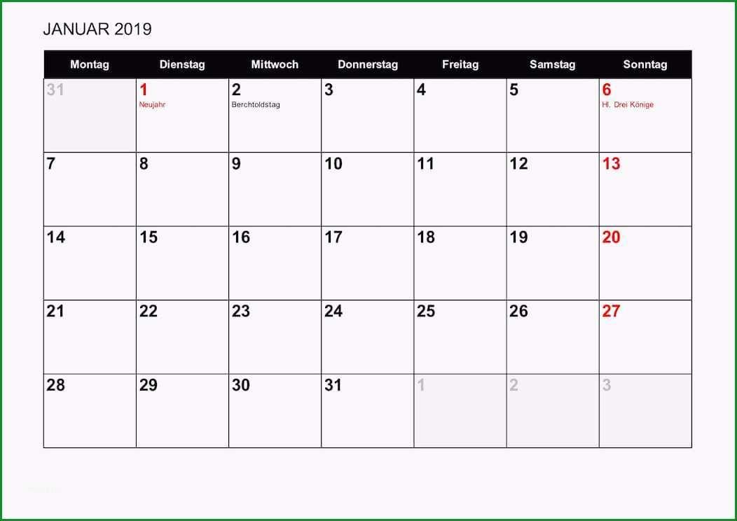 Vorlage 10 Wochenkalender 2018 als PDFVorlage Hochformat