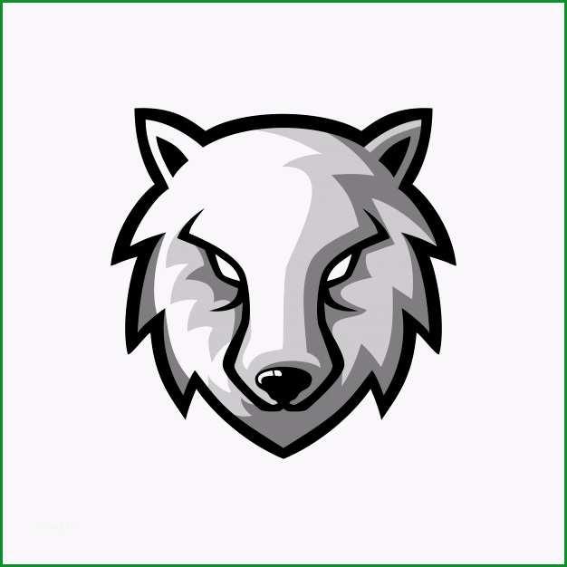 wilder wolf maskottchen logo design vorlage