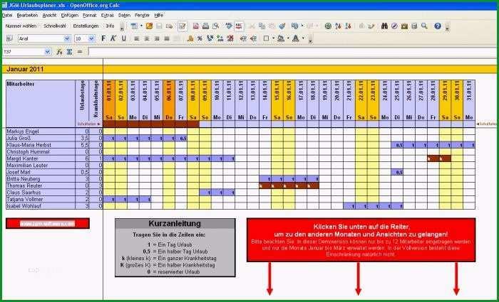 excel vorlage personalplanung kostenlos