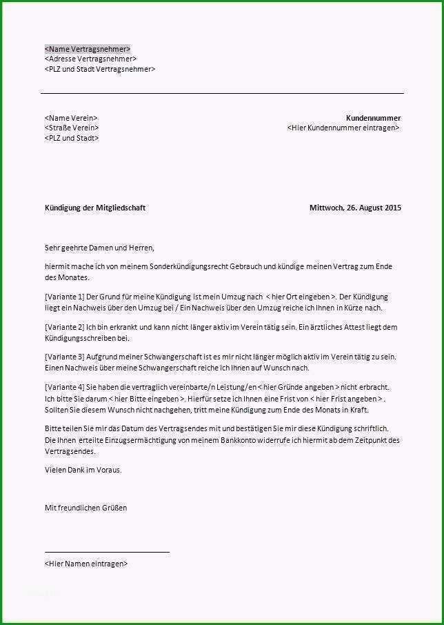 abmeldung fusballverein vorlage frische abmeldung fusballverein vorlage postkarte kundigung