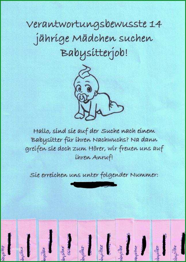 Außergewöhnlich Babysitten Flyer Arbeit Baby Babysitting