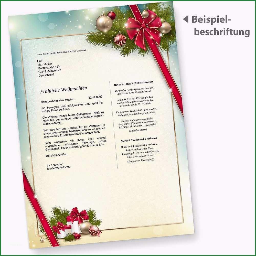 briefpapier weihnacht rote schleife 100 blatt