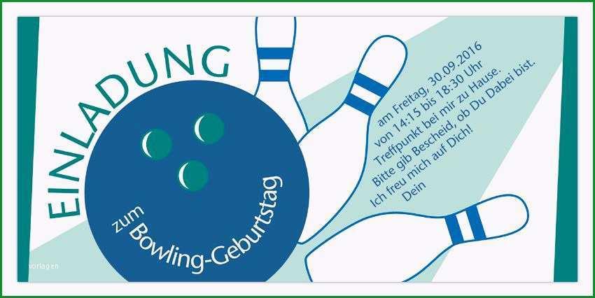einladung zum bowling schreiben