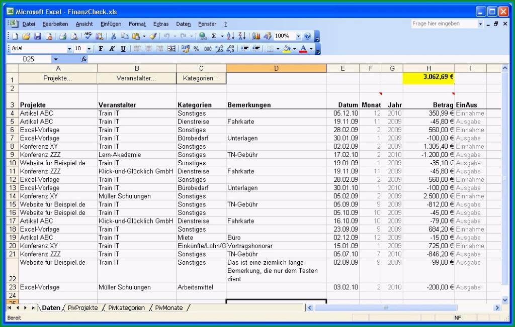 Außergewöhnlich Einnahmen Ausgaben Excel Vorlage Privat Papacfo