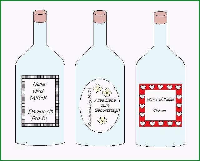 flaschen etiketten vorlage word
