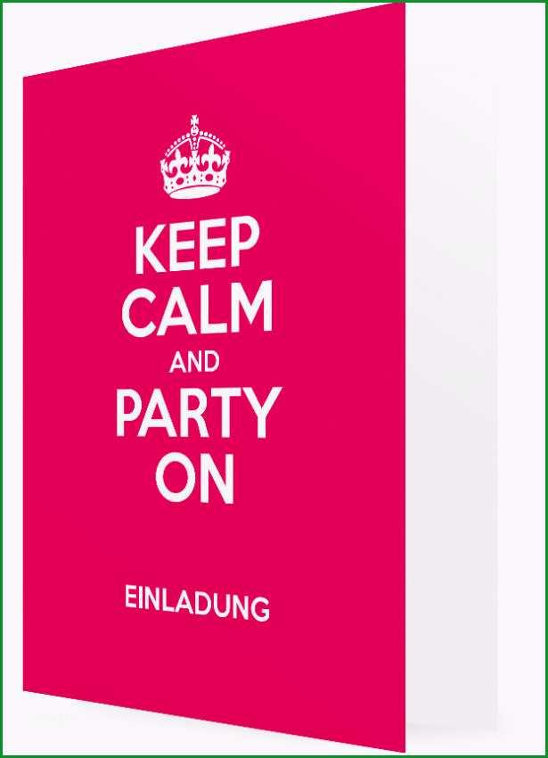 Geburtstagseinladung Vorlagen gestalten Keep calm and party on pink 2150c4 20
