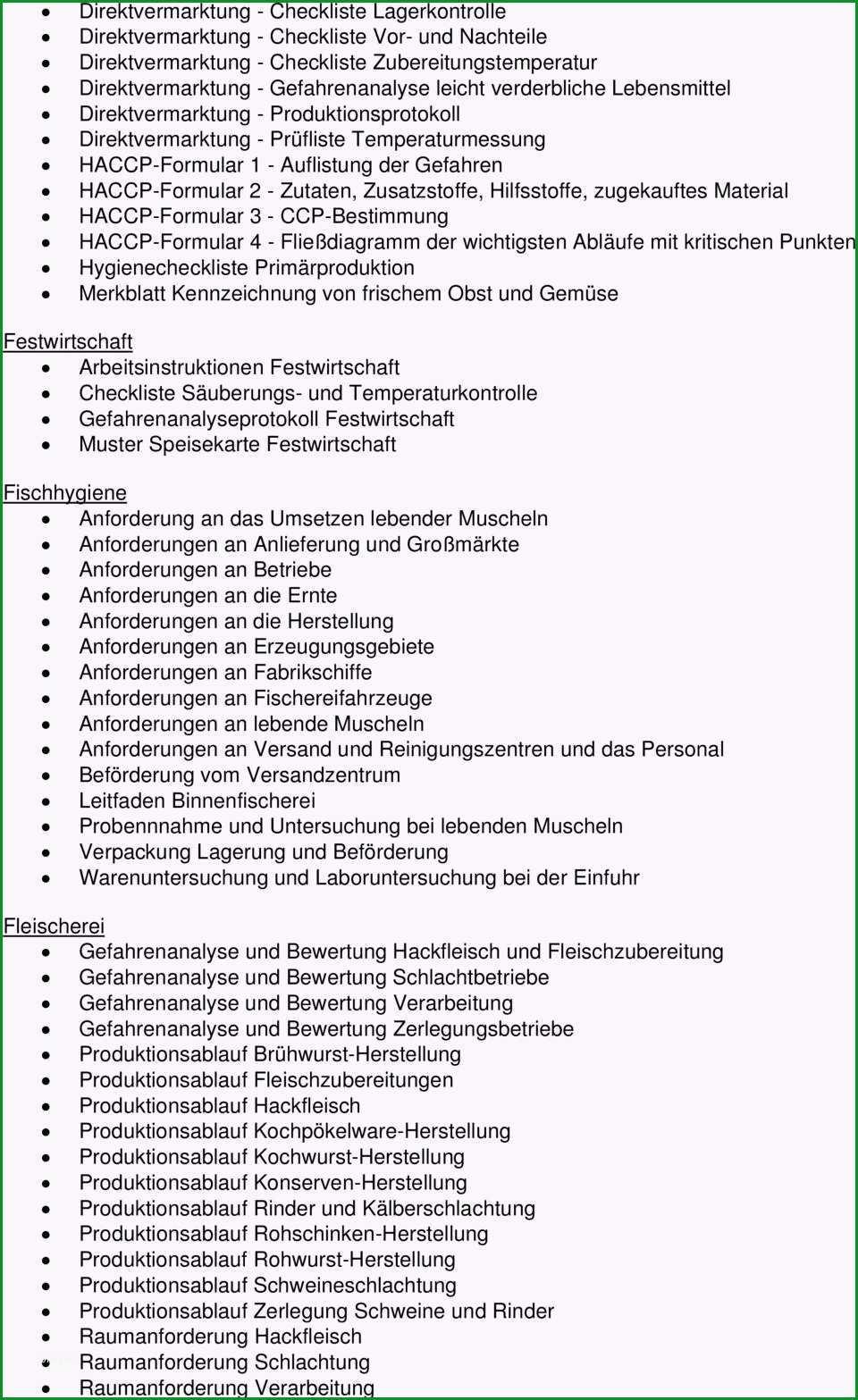 Gesamtinhaltsverzeichnis haccp umsetzung des neuen hygienerechts in der praxis