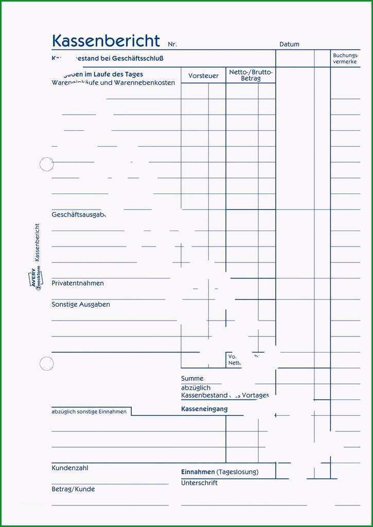 kassenbericht vorlage pdf excel vorlagen kostenlos papacfo