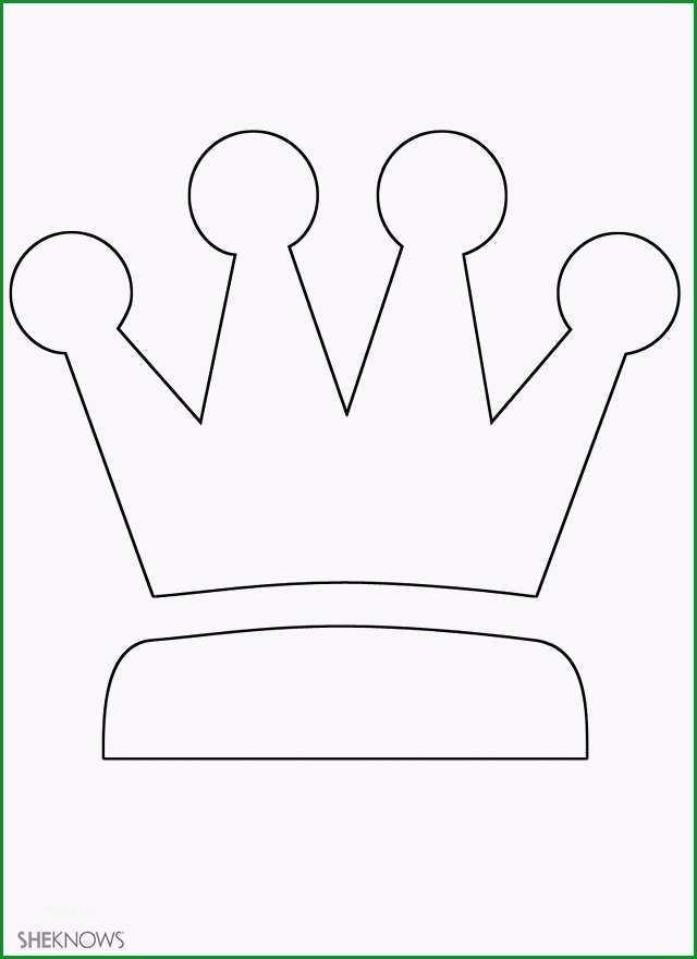 krone vorlage zum ausdrucken krone basteln geburtstagskrone basteln kribbelbunt