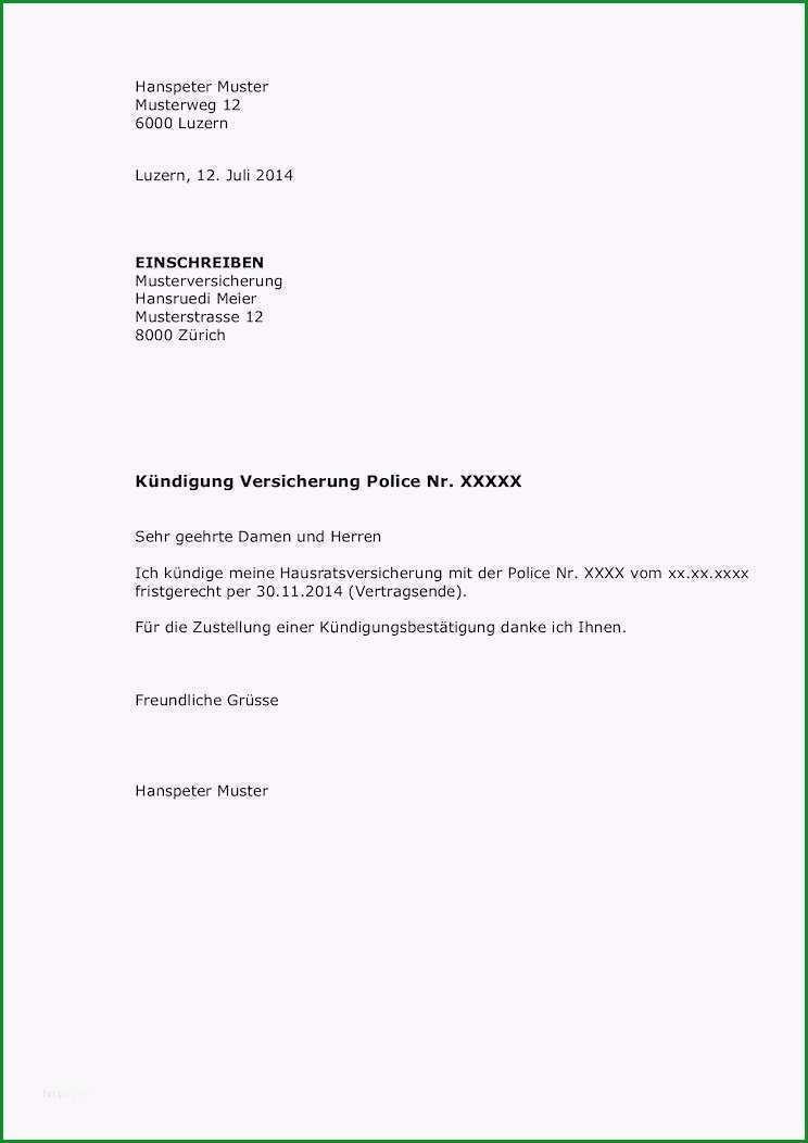 kundigungsschreiben versicherung vorlage gratis neu kundigungsschreiben an autoversicherung was muss rein