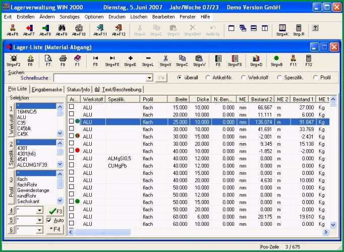 lagerverwaltung win 2000