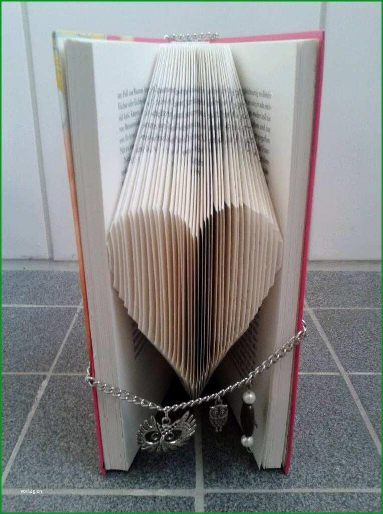 Origami Book Art Herz falten