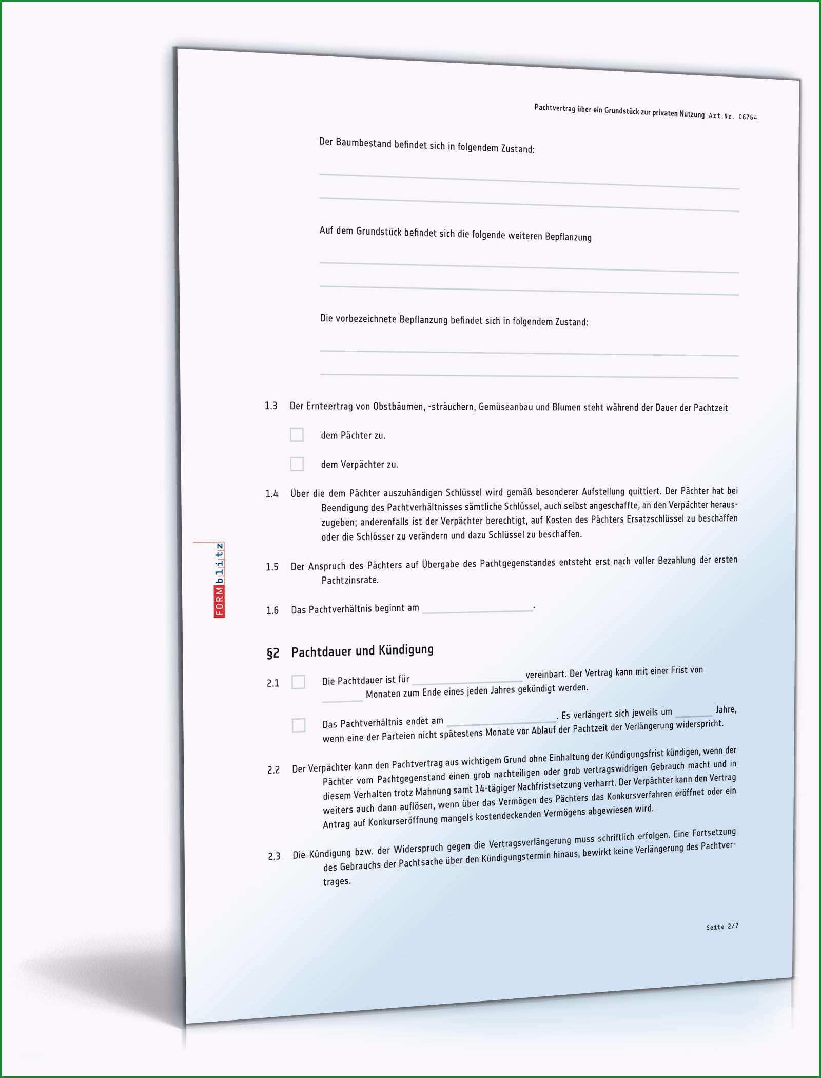 pachtvertrag grundstueck privatnutzung oesterreich