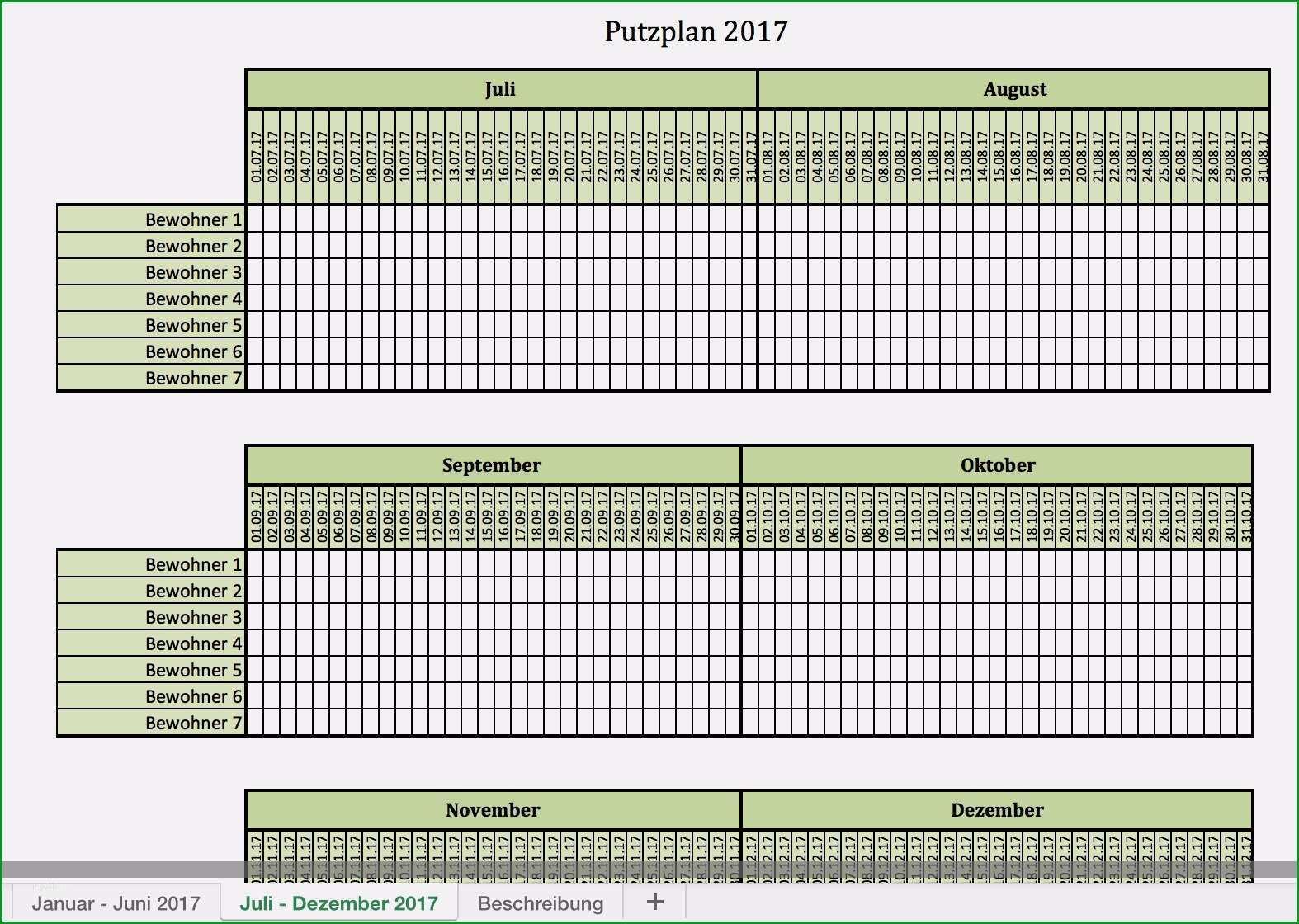 putzplan treppenhaus vorlage excel best of putzplan fur 2017 mit excel vorlagen und pdf