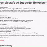 Außergewöhnlich Rumblecraft Supporter Bewerbung