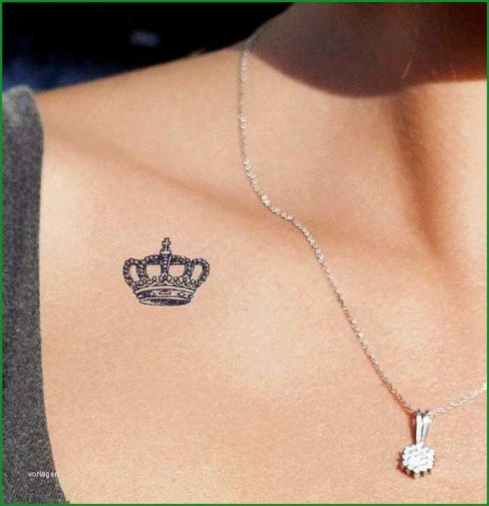 Außergewöhnlich Tattoo Vorlage Kleine Krone Symbolisiert Stärke Und