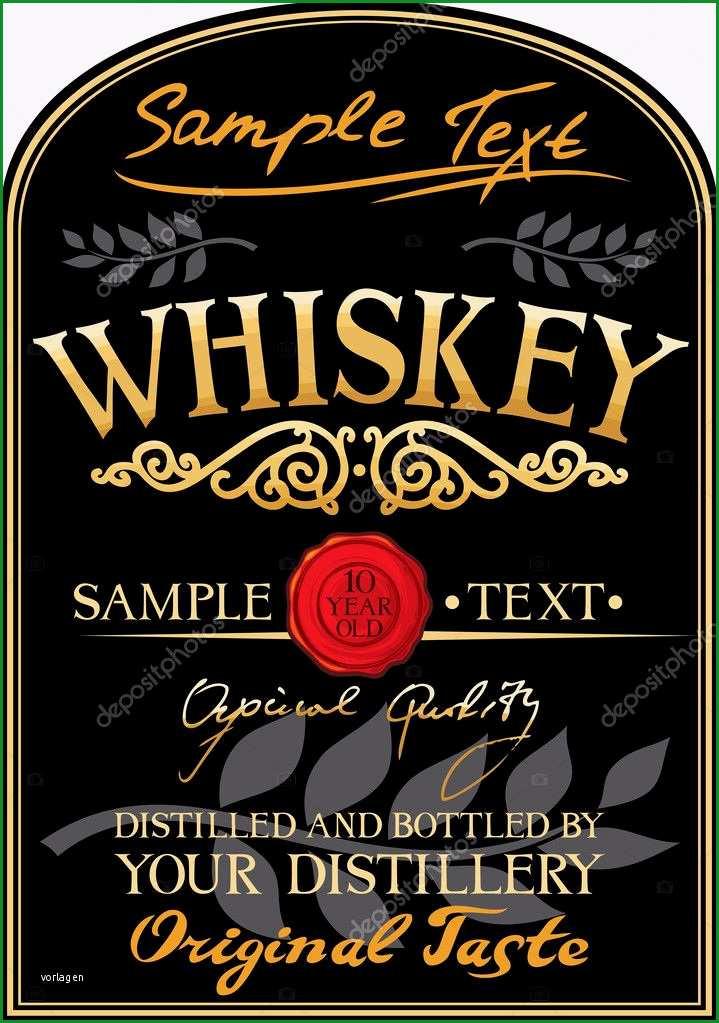 stock illustration whiskey label