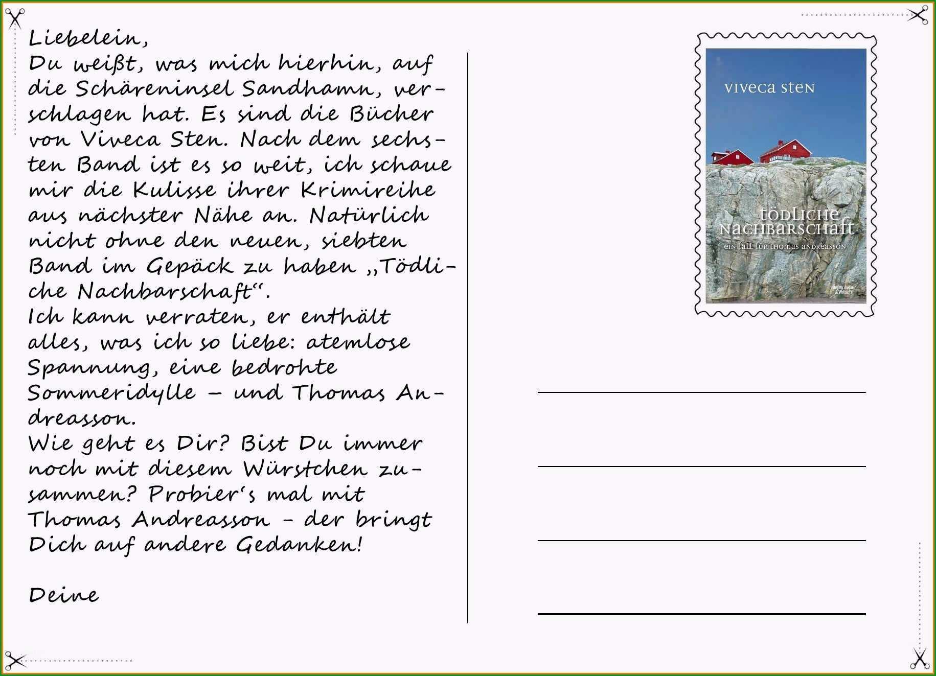 15 postkarten schreiben text