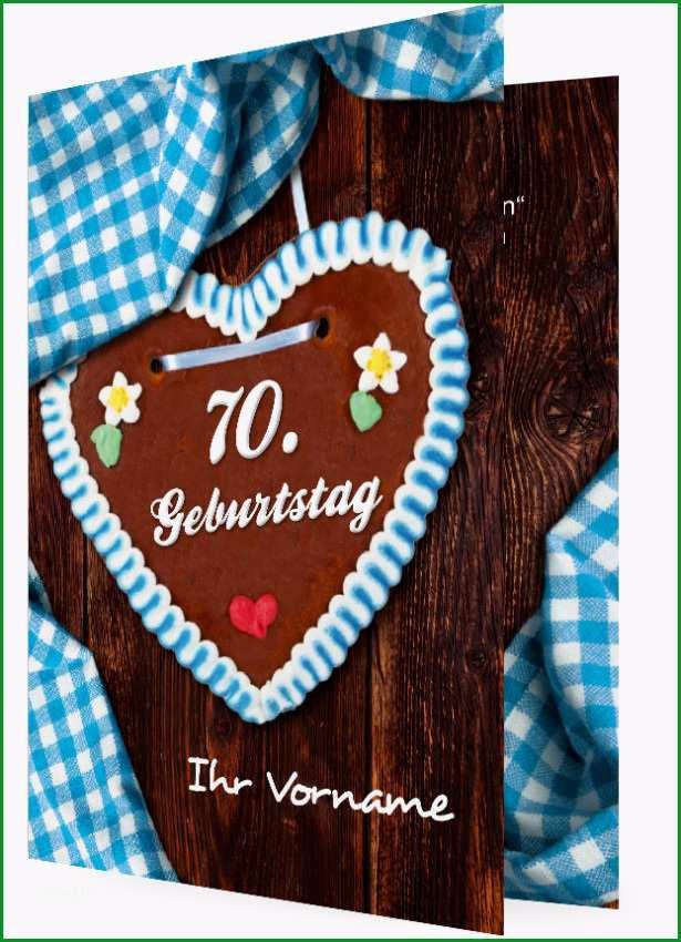Einladung 70 Geburtstag Vorlage Lebkuchenherz 1827