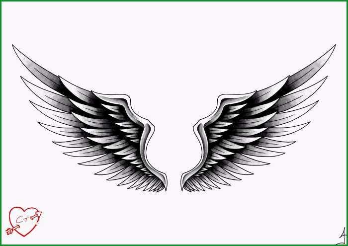 engel tattoo designs ideen vorlagen