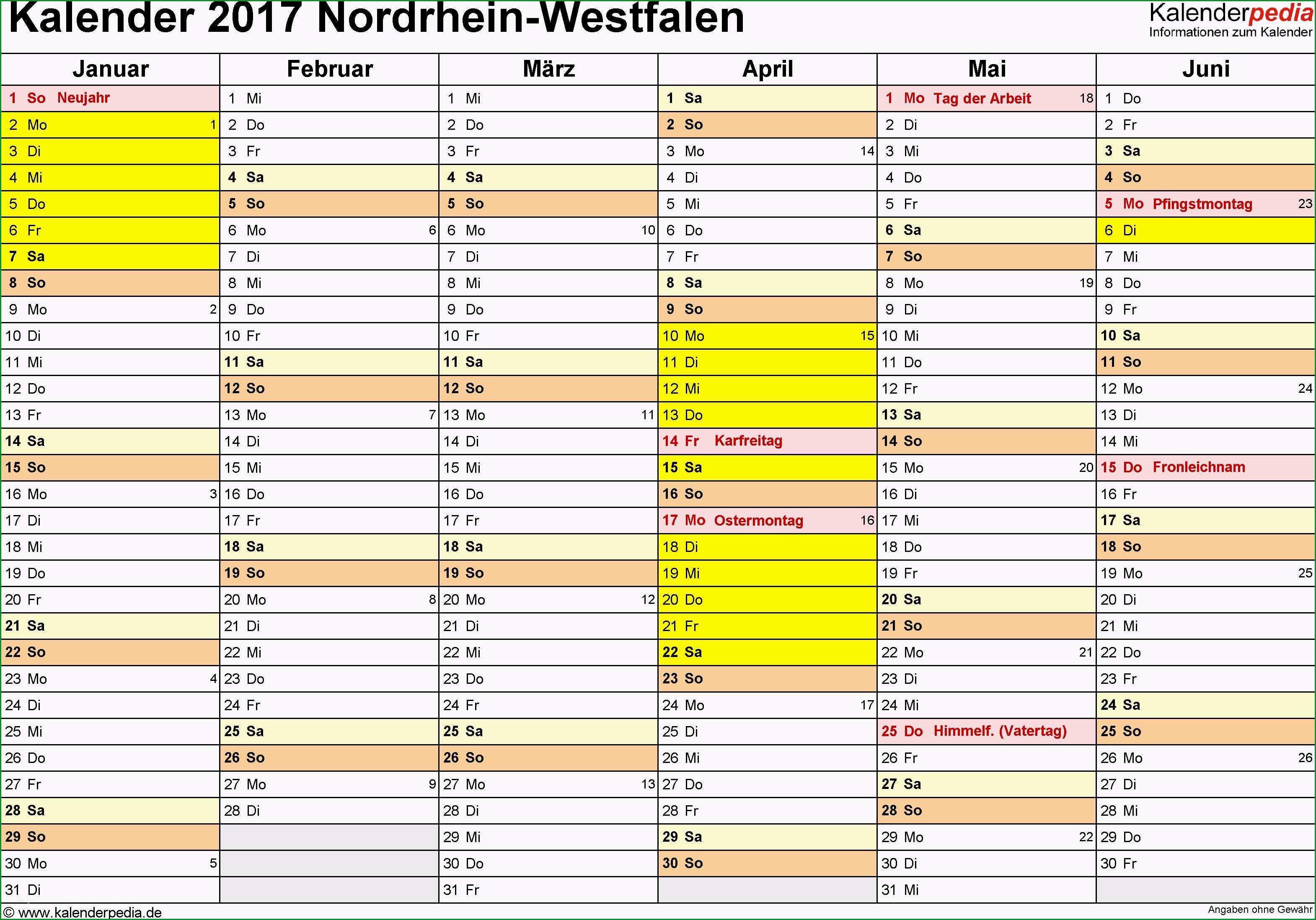 excel vorlage kalender 2017 luxus kalender 2017 nrw ferien feiertage excel vorlagen