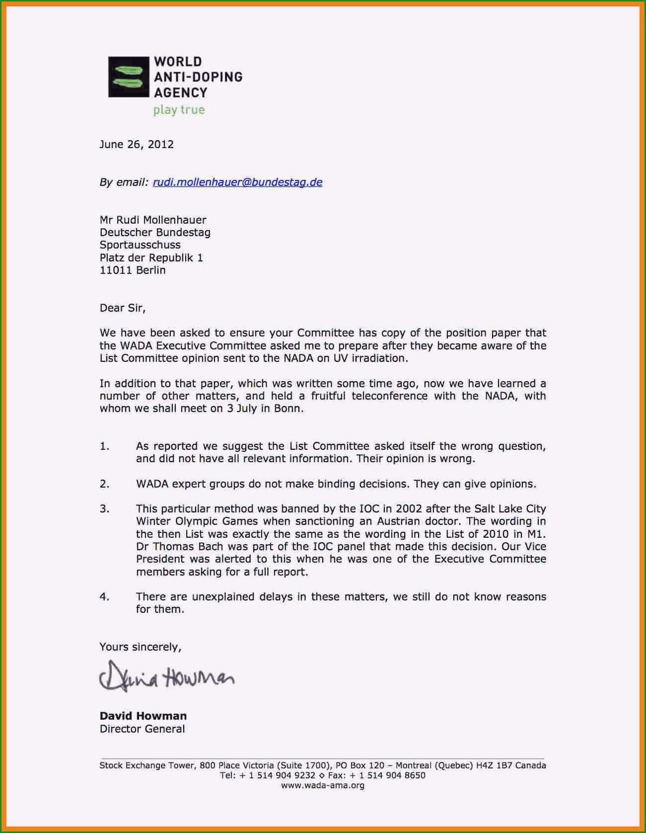 Ausgezeichnet formeller Brief Vorlage