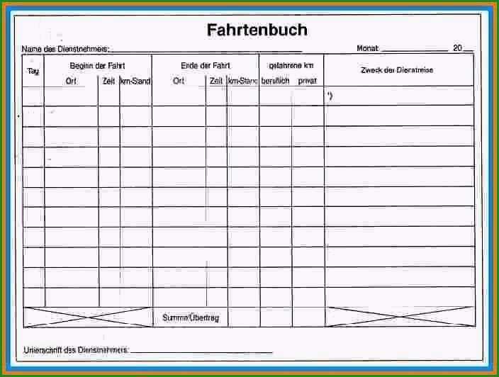 frachtbrief vorlage word beste 5 fahrtenbuch vorlage pdf