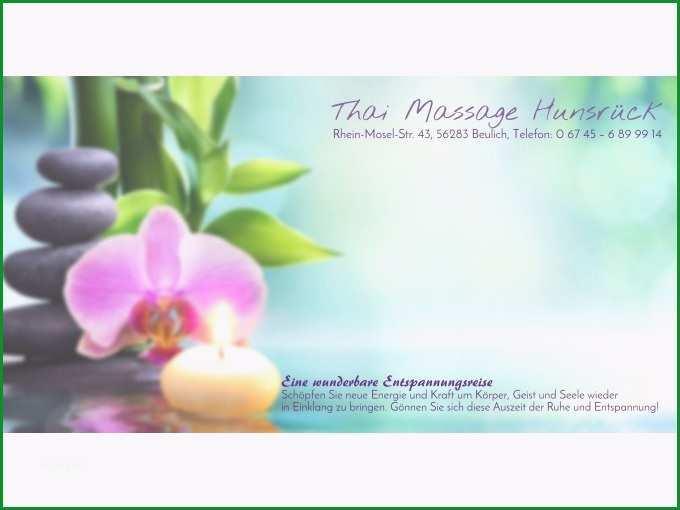 gutschein thai massage hunsrckmassage gutschein vorlage