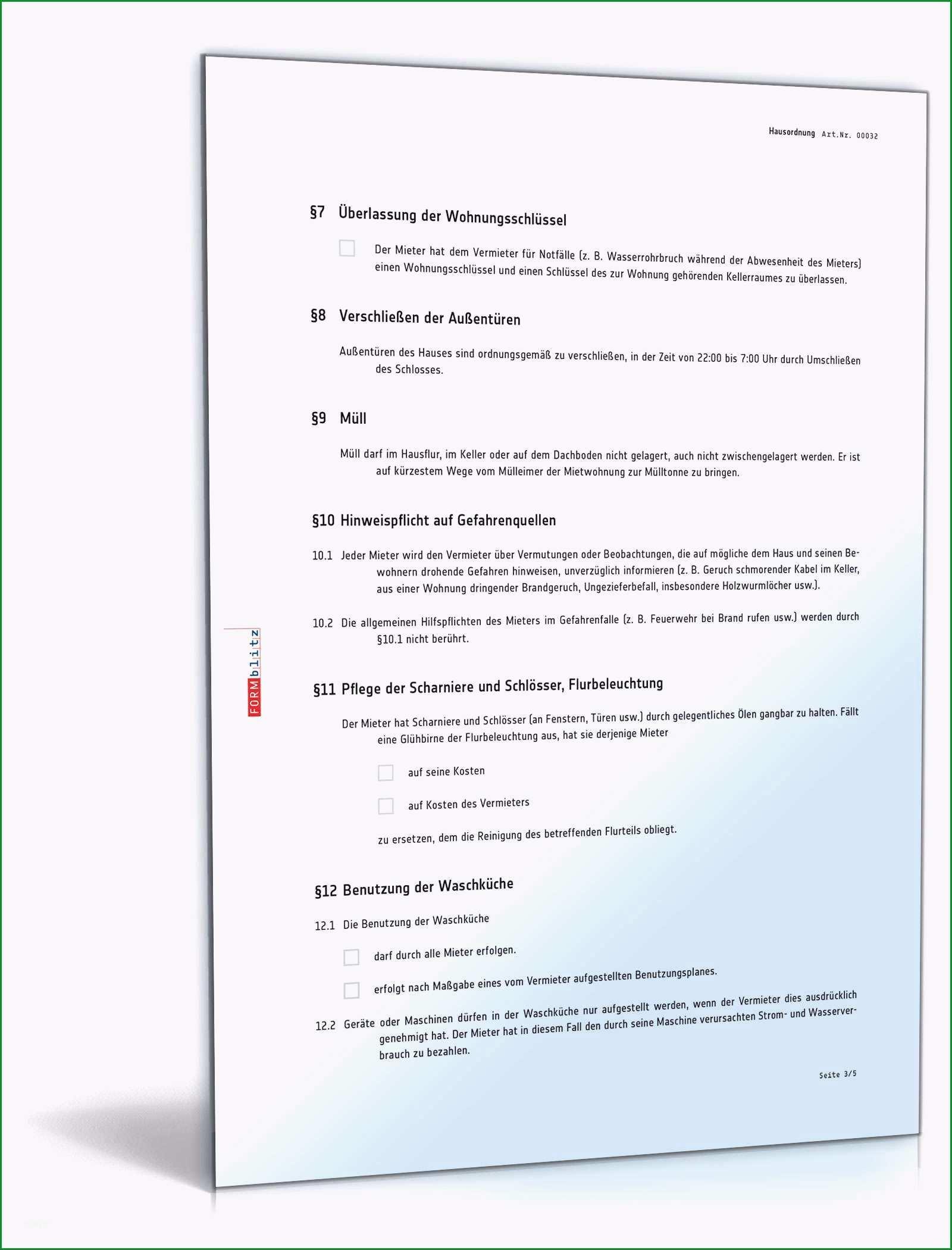 hausordnung ferienwohnung vorlage hausordnung mietrecht muster vorlage word und pdf