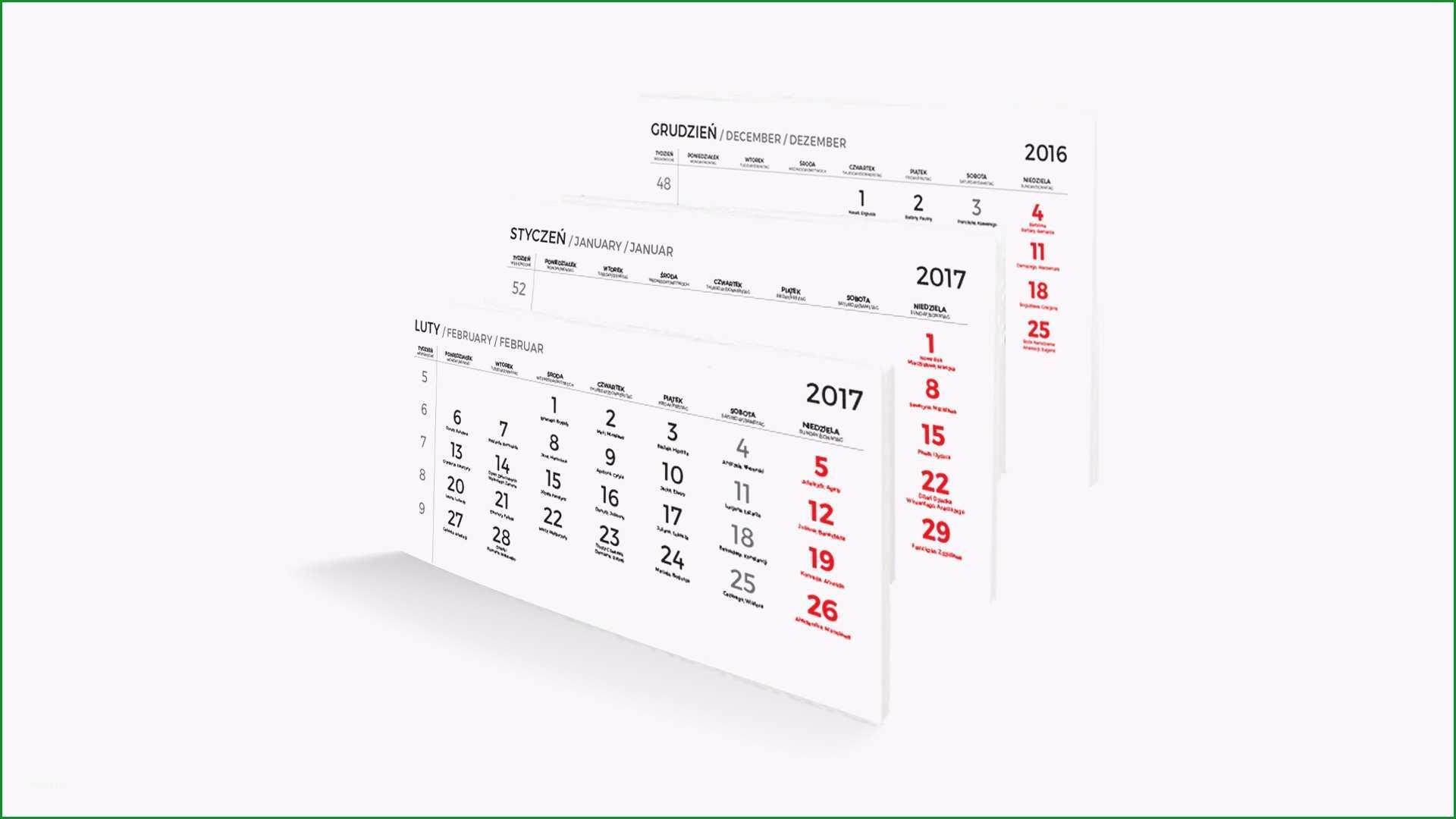 kalendaria do kalendarzy trojdzielnych